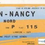 Billet Lyon-Nancy - Saison 2006-2007 - Coupe de la Ligue (1/4 de finale, 20/12/2006)