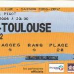 Billet Nancy-Toulouse - Saison 2006-2007 - Coupe de la Ligue (8e de finale, 24/10/2006)