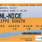 Billet Nancy-Nice - Saison 2006-2007 - Coupe de la Ligue (16e de finale, 20/09/2006)