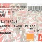 Billet Nancy-Sedan - Saison 2006-2007 - L1 (2e j., 12/08/2006)