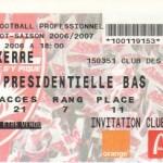Billet Nancy-Auxerre - Saison 2006-2007 - L1 (4e j., 27/08/2006)