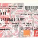 Billet Nancy-Rennes - Saison 2006-2007 - L1 (6e j., 17/09/2006)