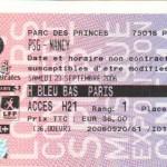 Billet Paris SG-Nancy - Saison 2006-2007 - L1 (7e j., 23/09/2006)