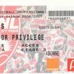 Billet Nancy-Lens - Saison 2006-2007 - L1 (8e j., 01/10/2006)