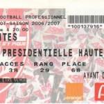 Billet Nancy-Nantes - Saison 2006-2007 - L1 (10e j., 21/10/2006)