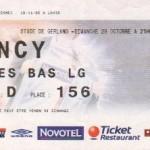 Billet Lyon-Nancy - Saison 2006-2007 - L1 (11e j., 29/10/2006)