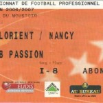 Billet Lorient-Nancy - Saison 2006-2007 - L1 (13e j., 11/11/2006)