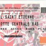 Billet Nancy-St-Étienne - Saison 2006-2007 - L1 (21e j., 25/01/2007)