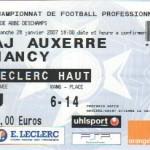 Billet Auxerre-Nancy - Saison 2006-2007 - L1 (22e j., 28/01/2007)