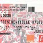 Billet Nancy-Toulouse - Saison 2006-2007 - L1 (23e j., 03/02/2007)
