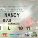 Billet Rennes-Nancy - Saison 2006-2007 - L1 (24e j., 10/02/2007)