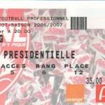 Billet Nancy-Paris SG - Saison 2006-2007 - L1 (25e j., 17/02/2007)