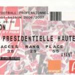 Billet Nancy-Lyon - Saison 2006-2007 - L1 (29e j., 17/03/2007)