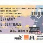 Billet Bordeaux-Nancy - Saison 2006-2007 - L1 (30e j., 18/04/2007)
