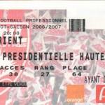 Billet Nancy-Lorient - Saison 2006-2007 - L1 (31e j., 07/04/2007)