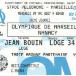 Billet Marseille-Nancy - Saison 2006-2007 - L1 (36e j., 09/05/2007)
