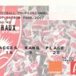 Billet Nancy-Sochaux - Saison 2006-2007 - L1 (37e j., 19/05/2007)