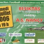 Billet Besiktas-Nancy - Saison 2006-2007 - Match amical  (22/07/2007)