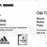 Billet Schalke 04-Nancy - Saison 2006-2007 - Coupe UEFA (1er tour aller, 14/09/2006)