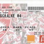 Billet Nancy-Schalke 04 - Saison 2006-2007 - Coupe UEFA (1er tour retour, 28/09/2006)