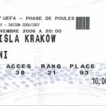 Billet Nancy-Wisla Cracovie - Saison 2006-2007 - Coupe UEFA (match de poule #1, 02/11/2006)