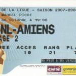 Billet Nancy-Amiens - Saison 2007-2008 - Coupe de la Ligue (8e de finale, 30/10/2007)