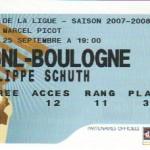 Billet Nancy-Boulogne - Saison 2007-2008 - Coupe de  la Ligue (16e de finale, 25/09/2007)