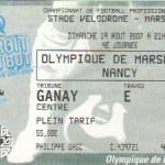 Billet Marseille-Nancy - Saison 2007-2008 - L1 (4e j., 19/08/2007)