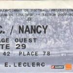 Billet Toulouse-Nancy - Saison 2007-2008 - L1 (6e j., 05/12/2007)