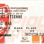 Billet Nancy-St-Étienne - Saison 2007-2008 - L1 (7e j., 01/09/2007)