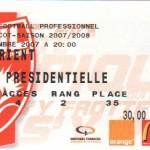 Billet Nancy-Lorient - Saison 2007-2008 - L1 (9e j., 22/09/2007)