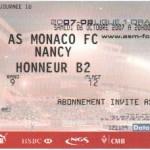 Billet Monaco-Nancy - Saison 2007-2008 - L1 (10e j., 05/10/2007)