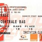 Billet Nancy-Sochaux - Saison 2007-2008 - L1 (11e j., 21/10/2007)