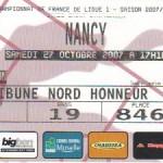 Billet Metz-Nancy - Saison 2007-2008 - L1 (12e j., 27/10/2007)