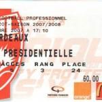 Billet Nancy-Bordeaux - Saison 2007-2008 - L1 (13e j., 03/11/2007)