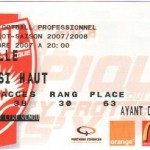 Billet Nancy-Lille - Saison 2007-2008 - L1 (15e j., 24/11/2007)