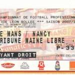 Billet Le Mans-Nancy - Saison 2007-2008 - L1 (16e j., 01/12/2007)