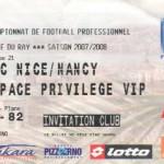 Billet Nice-Nancy - Saison 2007-2008 - L1 (21e j., 20/01/2008)