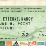 Billet St-Étienne-Nancy - Saison 2007-2008 - L1 (25e j., 16/02/2008) exemplaire 1