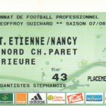 Billet St-Étienne-Nancy - Saison 2007-2008 - L1 (25e j., 16/02/2008) exemplaire 2