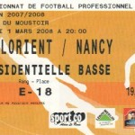 Billet Lorient-Nancy - Saison 2007-2008 - L1 (27e j., 01/03/2008)