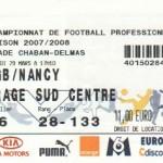 Billet Bordeaux-Nancy - Saison 2007-2008 - L1 (31e j., 29/03/2008)