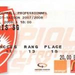 Billet Nancy-Paris SG - Saison 2007-2008 - L1 (32e j., 06/04/2008)