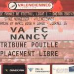 Billet Valenciennes-Nancy - Saison 2007-2008 - L1 (35e j., 27/04/2008)
