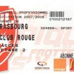 Billet Nancy-Strasbourg - Saison 2007-2008 - L1 (36e j., 03/05/2008)
