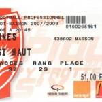 Billet Nancy-Rennes - Saison 2007-2008 - L1 (38e j., 17/05/2008)