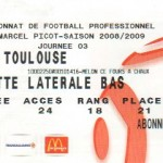 Billet Nancy-Toulouse - Saison 2008-2009 - L1 (3e j., 23/08/2008)