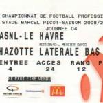 Billet Nancy-Le Havre - Saison 2008-2009 - L1 (4e j., 30/08/2008)