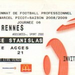 Billet Nancy-Rennes - Saison 2008-2009 - L1 (6e j., 21/09/2008)