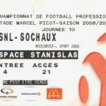 Billet Nancy-Sochaux - Saison 2008-2009 - L1 (10e j., 26/10/2008)